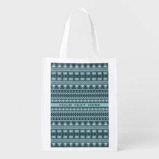 Aztec Pattern custom reusable bag