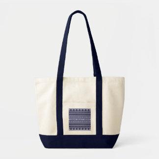 Aztec Pattern custom tote bags