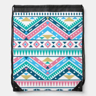 Aztec Pattern Lt Cinch Bags