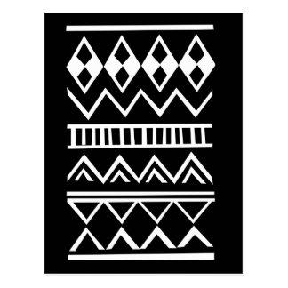 Aztec pattern postcard