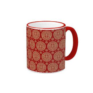 Aztec Pattern Ringer Mug