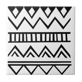 Aztec pattern small square tile
