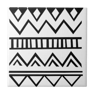 Aztec pattern tile