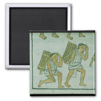 Aztec porters, from the 'Florentine Codex' Magnet