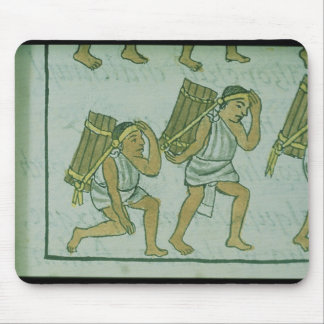 Aztec porters, from the 'Florentine Codex' Mouse Mat