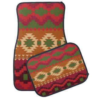 Aztec Print Design Set of 4 Car Mats