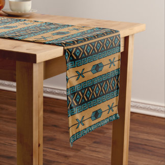 Aztec Print Southwest Design Short Table Runner