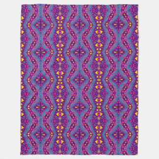 Aztec Purple Pattern Fleece Blanket