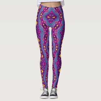 Aztec Purple Pattern Leggings
