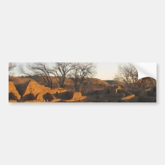 aztec ruins in the morning and spring bumper sticker
