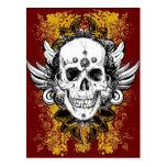 Aztec-Skull Postcard