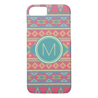 Aztec Spring Color (Personalize Monogram Letter) iPhone 8/7 Case