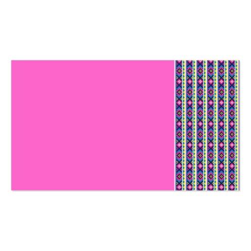 AZTEC   stripes BACKGROUND PATTERNS WALLPAPER TEMP Business Card