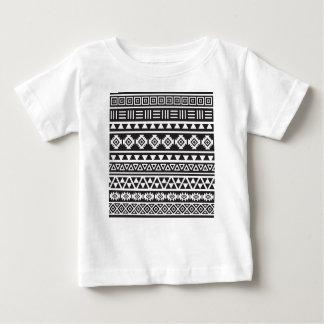 Aztec Style (large) Pattern - Monochrome Baby T-Shirt