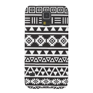 Aztec Style (large) Pattern - Monochrome Case For Galaxy S5