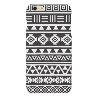 Aztec Style (large) Pattern - Monochrome iPhone 6 Plus Case