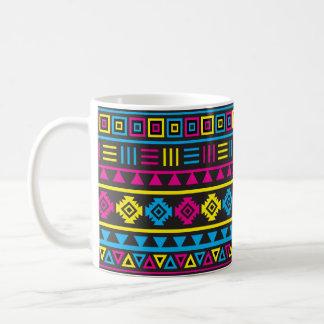Aztec Style Pattern - CMY & Black Coffee Mug