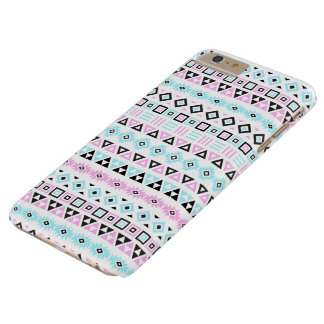 Aztec Style Pattern II (b) - Black Blue Pink White Barely There iPhone 6 Plus Case