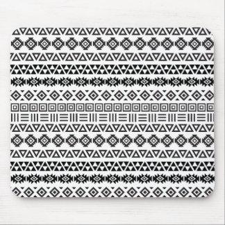 Aztec Style Pattern II - Monochrome Mouse Mat