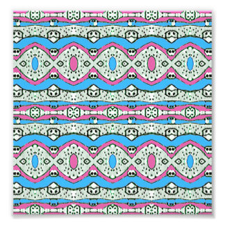 Aztec Style Pattern in Pastel Colors Art Photo