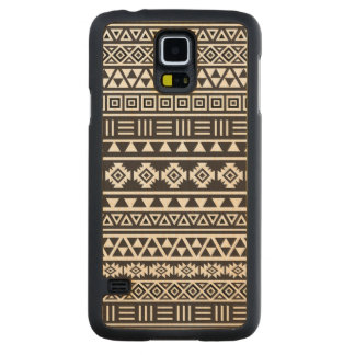 Aztec Style Pattern – Monochrome Carved Maple Galaxy S5 Case