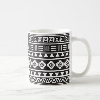 Aztec Style Pattern - Monochrome Coffee Mug