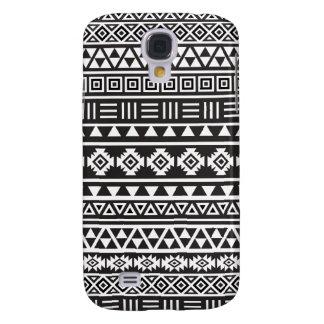 Aztec Style Pattern - Monochrome Galaxy S4 Case