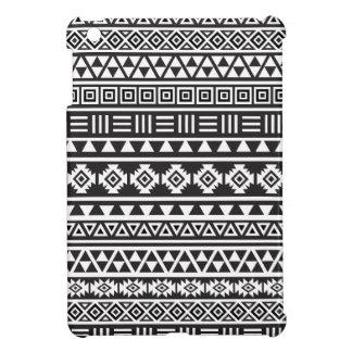 Aztec Style Pattern - Monochrome iPad Mini Covers