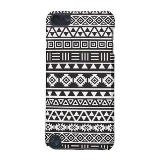Aztec Style Pattern - Monochrome iPod Touch 5G Cases