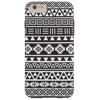 Aztec Style Pattern – Monochrome Tough iPhone 6 Plus Case