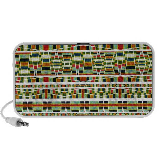 Aztec Style Pattern Travelling Speakers