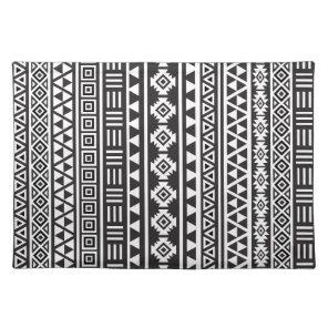 Aztec Style Ptn (v) - Monochrome Placemat