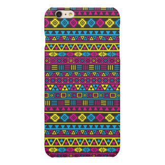 Aztec Style Repeat Pattern - CMY & Black iPhone 6 Plus Case