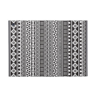 Aztec Style Repeat Pattern - Monochrome Case For iPad Mini