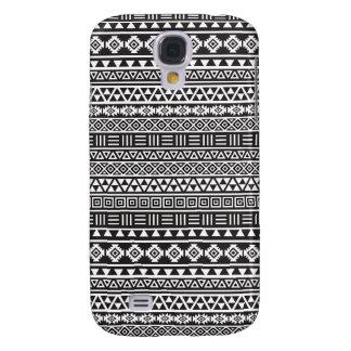 Aztec Style Repeat Pattern - Monochrome Galaxy S4 Case