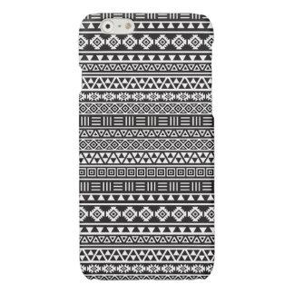 Aztec Style Repeat Pattern - Monochrome iPhone 6 Plus Case
