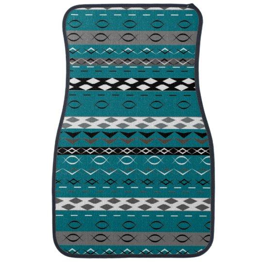 Aztec Style Stripe Patterned Car Mat