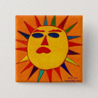 Aztec Sun 15 Cm Square Badge