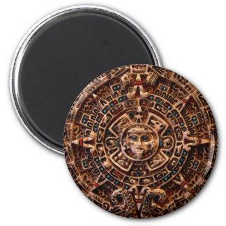 """""""AZTEC SUN CALENDAR"""" Art Magnets"""