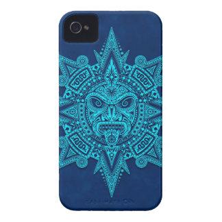 Aztec Sun Mask Blue Case-Mate Blackberry Case
