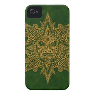 Aztec Sun Mask Green Blackberry Case