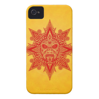 Aztec Sun Mask Red and Yellow Blackberry Case