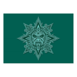 Aztec Sun Mask Teal Pack Of Chubby Business Cards