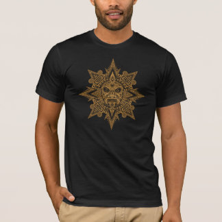 Aztec Sun Mask (yellow) T-Shirt