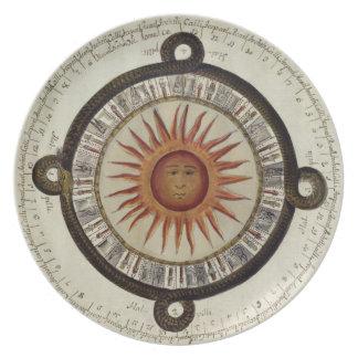 Aztec Sun Plate