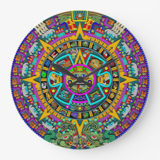 Aztec sunstone large clock