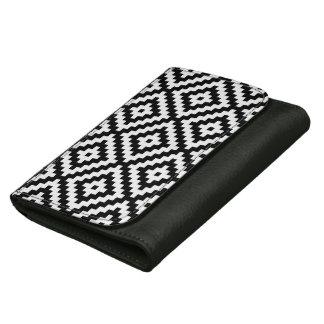 Aztec Symbol Block Lg Ptn Black & White II Wallet