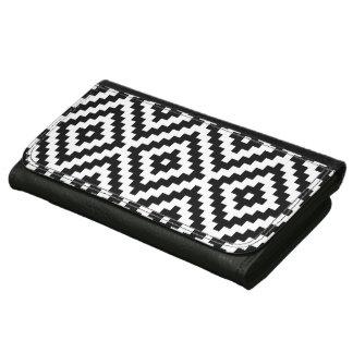 Aztec Symbol Block Lg Ptn Black & White Wallet