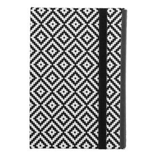 Aztec Symbol Block Rpt Ptn Black & White II iPad Mini 4 Case