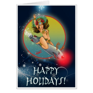 Aztec Torpedo Girl Holiday Card